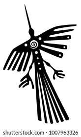 Inspired by the Nazca lines in Peru The condor.