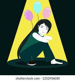 Inspired by sad birthdays, often feeling birthday blues.Try to be happy for the world by keeping a mild smile on face.