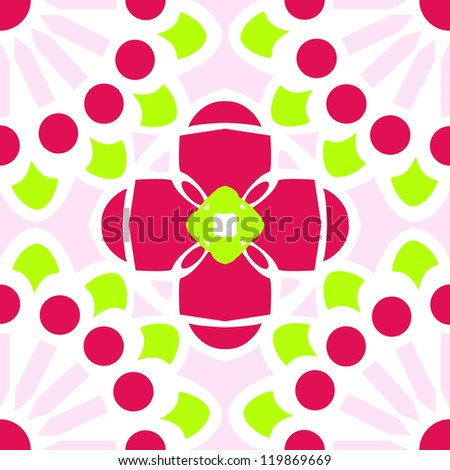 Inspired By Traditional Talavera Tile Designs This Rose Chartreuse Vector Pattern Can Seamlessly And