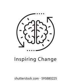Inspiring Change Vector Line Icon