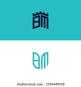 Inspiring logo design Set, for companies from the initial letters of the BM logo icon. -Vectors
