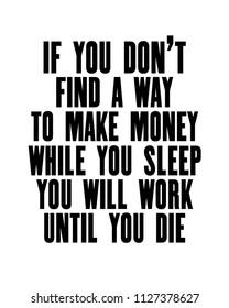 Make Money While You Sleep Images, Stock Photos & Vectors