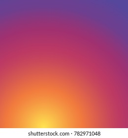 Instagram colorful background gradient. Social Media, Insta, Colorful smooth color, Abstract wallpaper. Vector illustration. EPS 10.