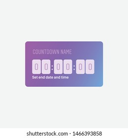 Instagram Countdown, Popular Social Media Sticker, Frame, Button, Countdown Sticker, Gradient, Timer, Vector Illustration, Template Icon, Stories Button