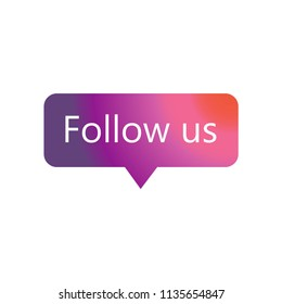 instagram Follow us icon vector icon. Simple element illustration. instagram Follow us symbol design. Can be used for web and mobile.
