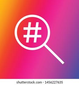 instagram hashtag finder icon vector symbol