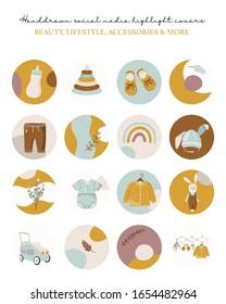 12 Baby Instagram Icons Baby Care Instagram Baby Social Media Gradient Instagram Story Highlights Nursery Gradient Instagram Covers