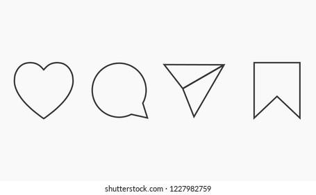 Instagram icon set, vector illustration. Network social media concept.