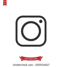 Instagram icon vector,instagram logo symbol isolated on white background.Simple social media illustration for web and mobile platforms.
