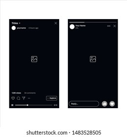 Instagram IGTV and Facebook Stories Mobile Interface