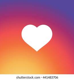 Instagram Like Icon, Colorful smooth gradient color Background Wallpaper, Heart Vector, Love sign