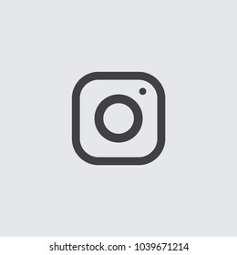 Instagram logo. Instagram icon. Vector illustration