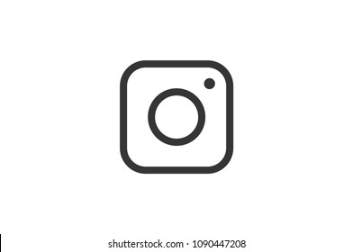 instagram logo vector , web icon of modern lineart camera