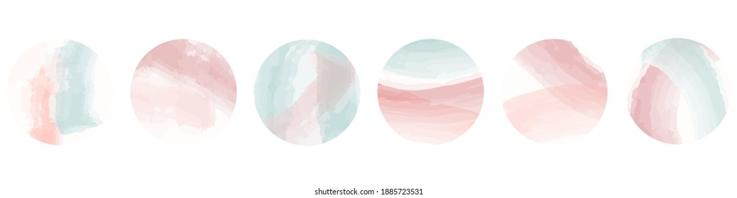 Instagram Pastel Highlight Icon Set. Cover Icons for Saved Stories. Minimal Icons Hand Drawn Vector Illustration On White Background