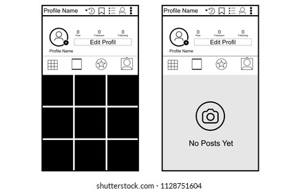 Instagram Photo Frame or menu Illustartion Vector