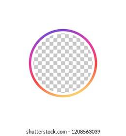 Instagram. Social media icon user. Stories user button, symbol, sign logo. Vector illustration.