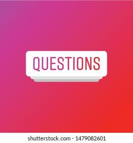 Instagram Question Stock Vectors, Images & Vector Art