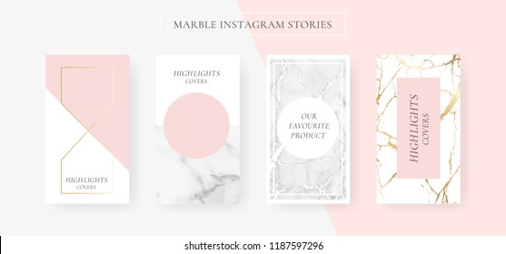 Instagram stories sale banner template with Marble and luxury decorative style background Vector Illustration