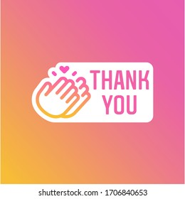 Instagram Stories Thank You Hour Sticker, Icon and Button