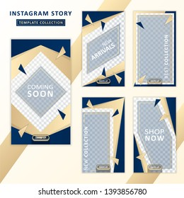 Instagram story template collection. Social media design