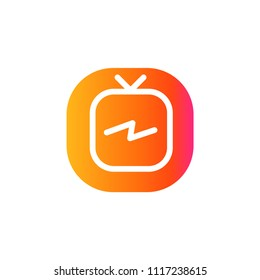 Instagram Tv Logo, IG Tv , igtv logo,  icon,  igtv  ,Modern, simple, flat vector EPS 10