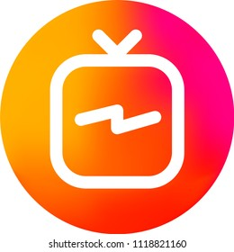 Instagram TV Logo. IG Tv. IGTV Logo. Icon. IGTV. Social Media Icon. Modern Simple Vector. Professional pixel perfect icons optimized for both large and small resolutions