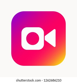 Instagram video camera icon. FaceTime icon, web, app. Vector illustration. EPS 10