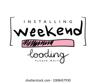 Installing weekend concept / Vector illustration design