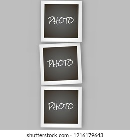 Instant Polaroid square photo frame collage with realistic design. frame