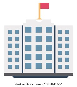 Institute Building Isolated Vector Icon