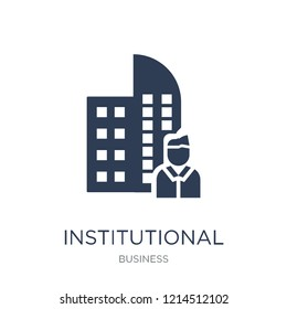 Institutional investor icon. Trendy flat vector Institutional investor icon on white background from Business collection, vector illustration can be use for web and mobile, eps10