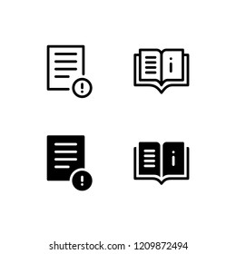Instruction Icon Logo Vector Symbol. User Manual Icon