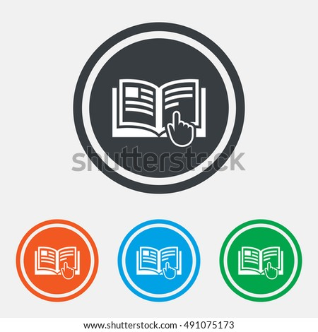 Instruction Sign Icon Manual Book Symbol Stock Vector Royalty Free