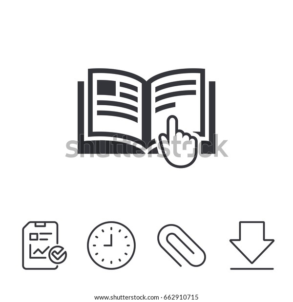 Instruction Sign Icon Manual Book Symbol Stock Vector Royalty Free 662910715