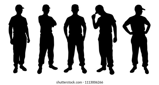 Instructor silhouette vector set