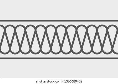 Insulation CAD Hatch Batt Wavy Line Pattern