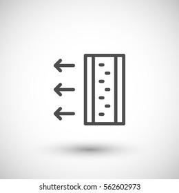 Insulation scheme line icon