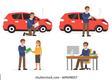 Photo Car Accident Stock Illustrations, Images & Vectors