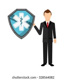 insurance company design, vector illustration eps10 graphic