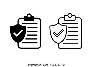 Insurance icon set. insurance symbol vector