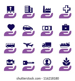 Insurance icons set - vector illustration