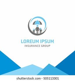 Insurance logo, Home Umbrella insurance, logo vector template