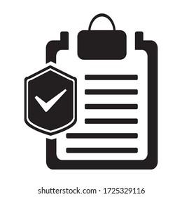 Insurance Policy Icon. vector graphics designs