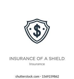 Insurance of a shield with dollar sign icon vector. Trendy flat insurance of a shield with dollar sign icon from insurance collection isolated on white background. Vector illustration can be used for