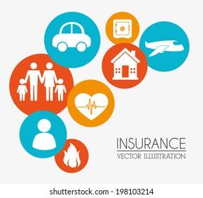Insurances design over beige background, vector illustration