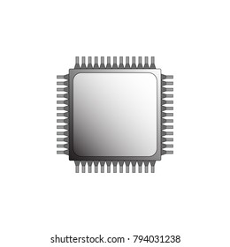 Integrated Circuit isolated. blackground is white.