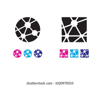 Integrated Hub Icon, Network Icon, interlinked icon
