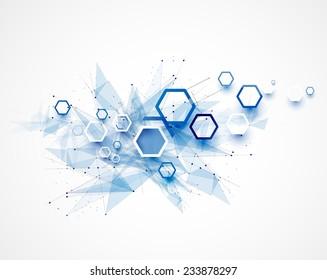 Integration and innovation technology. Best ideas for Business presentation model