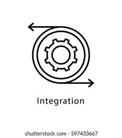 Integration Vector Line Icon