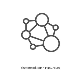 Integrity line icon. Social network sign. Core value symbol. Quality design element. Linear style integrity icon. Editable stroke. Vector